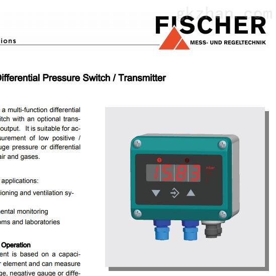 德国Fischer希而科 压力变送器 系列DE46