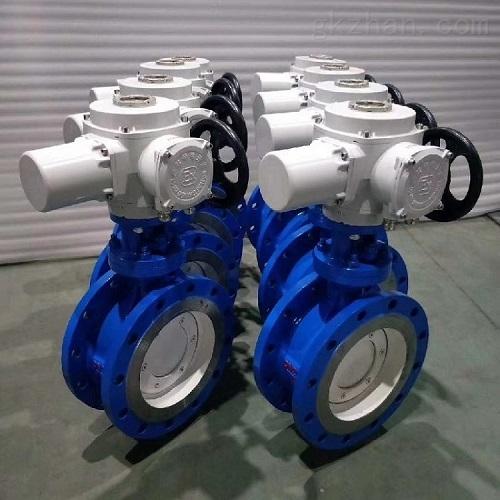 三精D943H低压碳钢电动三偏心蝶阀