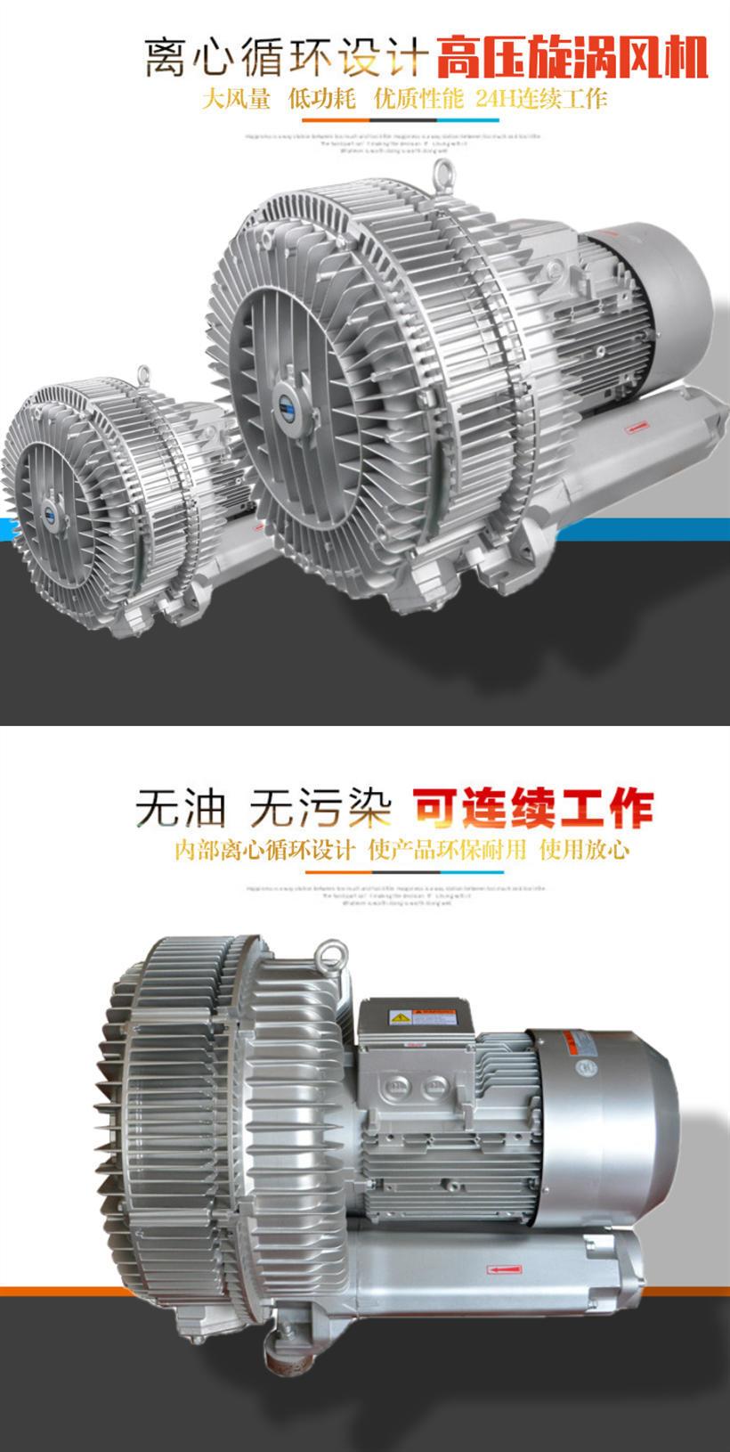 高压风机漩涡风机漩涡气泵真空泵 工业高压鼓风机增氧大功率风机示例图5