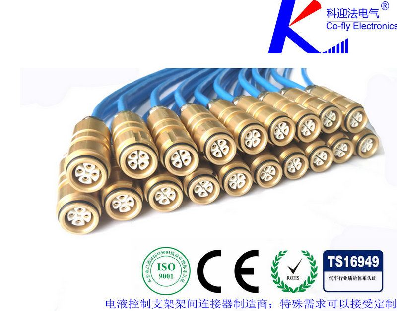 隔离耦合器<strong>4a型铜头连接器</strong>接在由不同电源供电的相邻两组支架控制器之间,将两组支架控制器完全电气隔离,为电源引入各组提供通道,内部有四个光电耦合器件为两条数据通信线TBUS及Bidi的双向信号传输提供通道。隔离耦合器有4个插口,分为A、B两侧