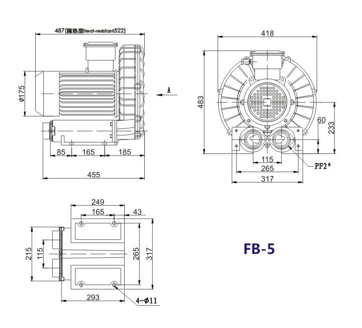 哈尔滨油气输送防爆高压风机 FB-25油气输送防爆高压风机 厂家防爆风机示例图16