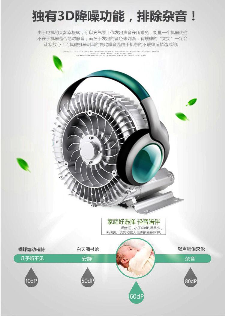 双叶轮高压鼓风机 上料机专用高压风机 物料输送专用漩涡气泵 双段高压风机 扦样机专用风机示例图7