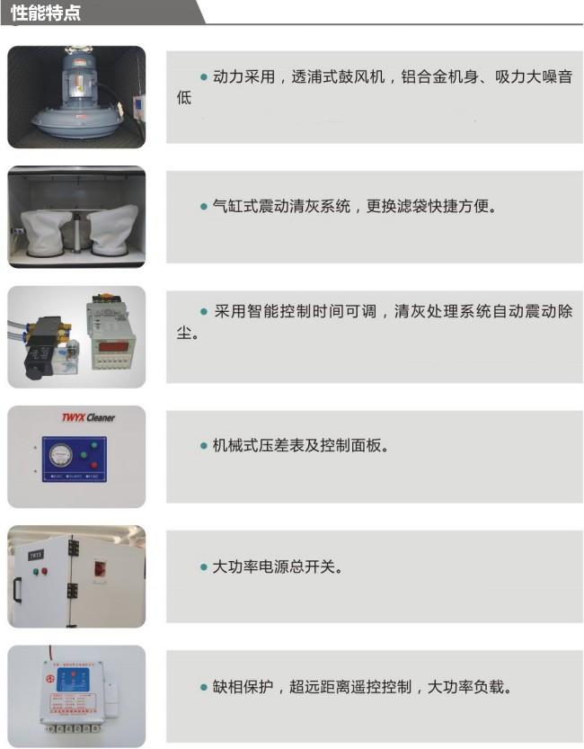 打磨抛光粉尘集尘机 柜式移动工业集尘器 密封车间灰尘收集集尘器示例图10