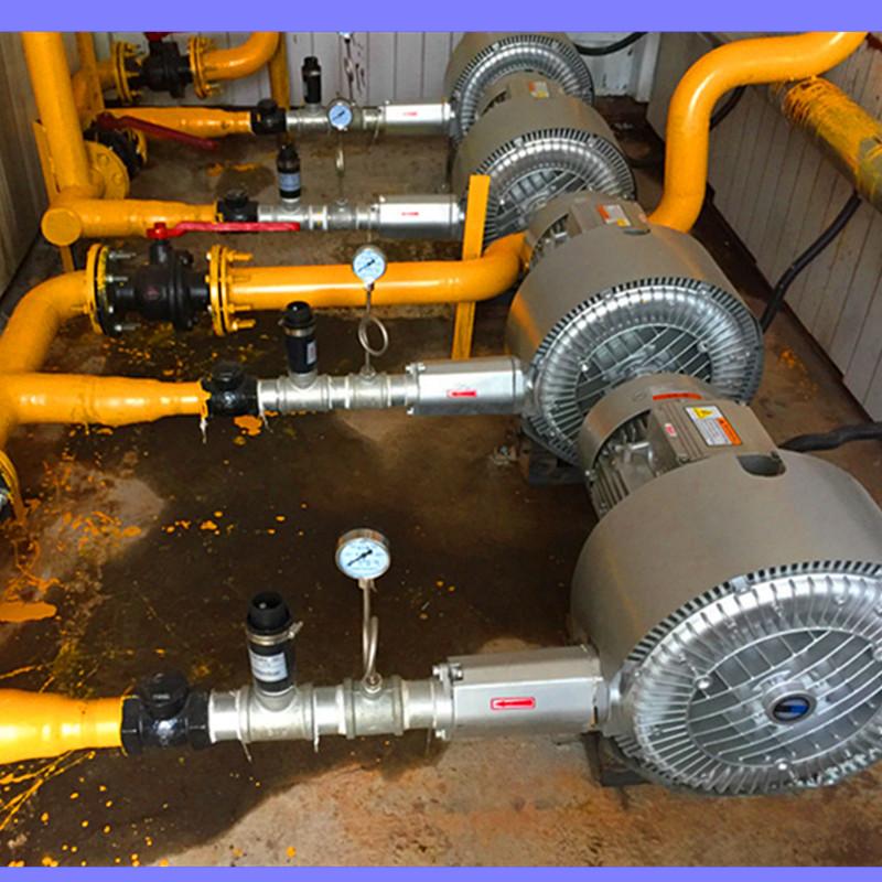 农村污水处理一体化曝气高压泵  污水处理净化曝气风机 曝气用漩涡气泵 曝气气泵示例图6