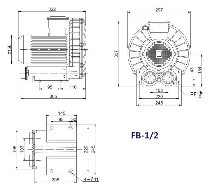 洛阳气体防爆高压风机 FB-25气体防爆高压风机 厂家防爆风机示例图12