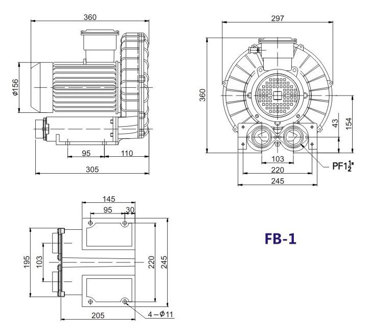 洛阳气体防爆高压风机 FB-25气体防爆高压风机 厂家防爆风机示例图13