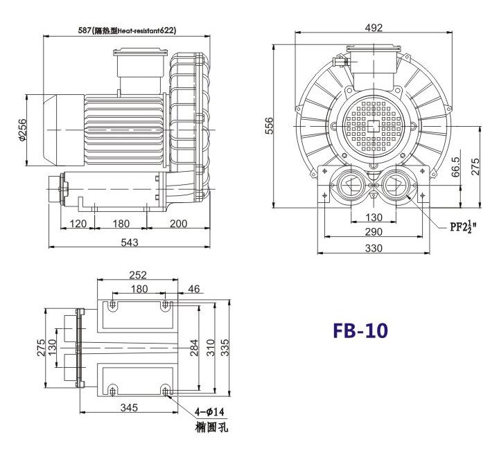洛阳气体防爆高压风机 FB-25气体防爆高压风机 厂家防爆风机示例图18