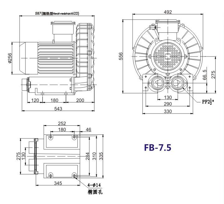 昆明防爆高压鼓风机 5.5KW防爆高压鼓风机 大量现货示例图17
